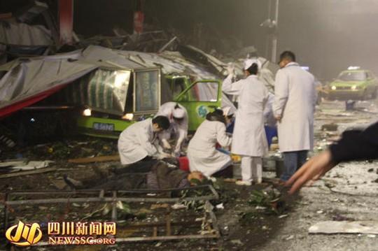 Đã có 4 người chết và 35 người bị thương. Ảnh: SINA