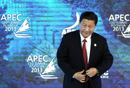 Hình ảnh vị chủ tịch Trung Quốc uy nghiêm trong một hội nghị