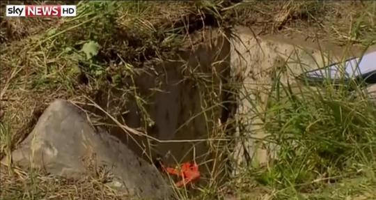 Hố ga nơi tìm thấy bé sơ sinh bị bỏ rơi