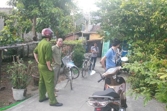Công an TP Tam Kỳ, tỉnh Quảng Nam có mặt tại hiện trường điều tra vụ việc