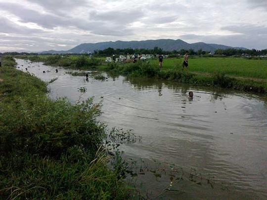 Đoạn kênh nơi em Nguyễn Văn Nghĩa bị đuối nước