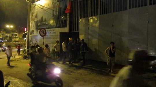 Người dân và công nhân bị một phen nháo nhào khi xảy ra sự cố