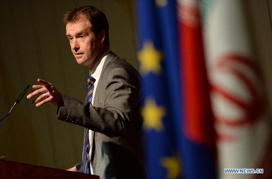 Ông Michael Mann, người phát ngôn của Đại diện Cấp cao EU kiêm Phó Chủ tịch Ủy ban Châu Âu. Ảnh: News.cn