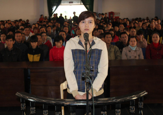 Bị cáo Lưu Thị Thanh Tuyền tại phiên tòa sơ thẩm