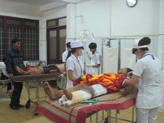 Các nạn nhân được cấp cứu tại Bện viện Đa khoa tỉnh Đắk Lắk