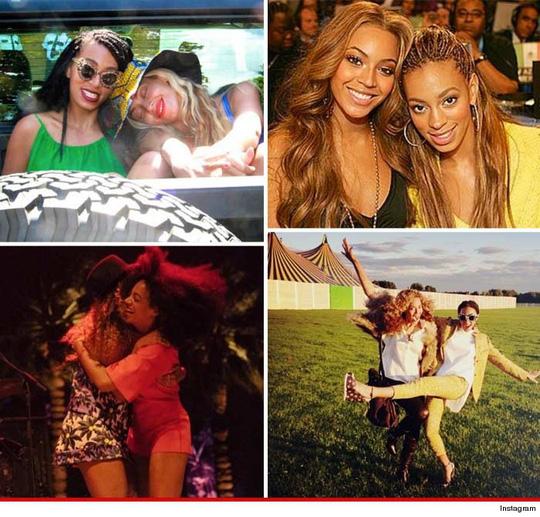 Beyoncé cũng đăng tải những tấm ảnh chụp hai chị em lên trang cá nhân hôm 14-5 để khẳng định tình cảm chị em không bị sứt mẻ
