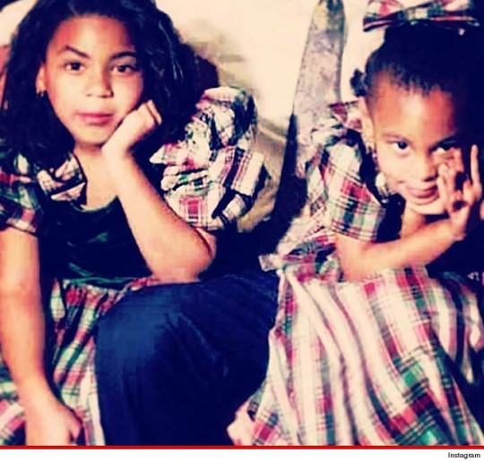 Ảnh Beyoncé và Solange hồi nhỏ trên Instagram của Solange