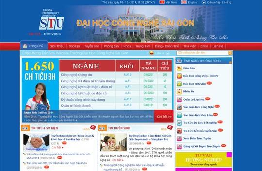 Website Trường ĐH Công Nghệ Sài Gòn