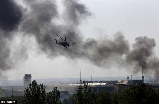 Quân đội Ukraine hôm 10-7 mở cuộc không kích vào Donetsk. Ảnh: Reuters