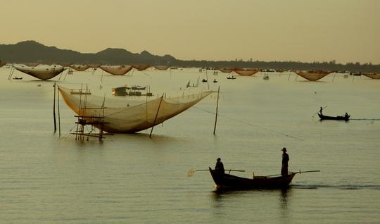 Sáng sớm, sau một đêm đánh bắt ngoài biển và trong đầm Cù Mông, các loại thuyền cá lớn, nhỏ của ngư dân các làng chài thuộc xã Xuân Hòa, Xuân Hải, Xuân Bình và dốc Nhà Ngòi đã cập bến chợ này.