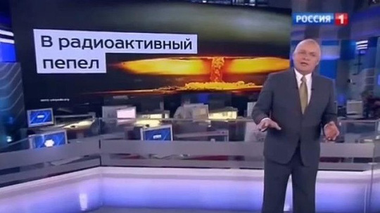 Television presenter Dmitry Kiselyov issued a stark warning about Moscows nuclear capabilities on his weekly current affairs show.