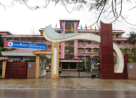 Trường THPT Chuyên Lam Sơn - Thanh Hóa, nơi cố Lan công tác