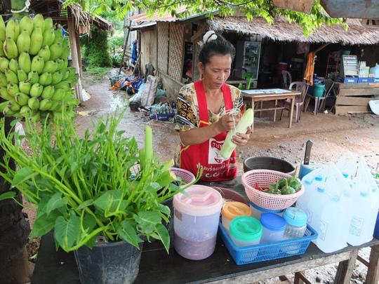 Một hàng bán tẩm sụm thường thấy ở Lào