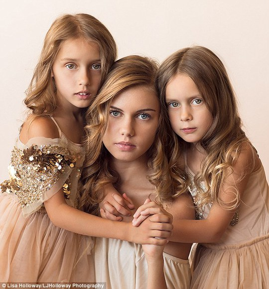 Angelic: Pictured (from left), Camille, Calista and Octavia
