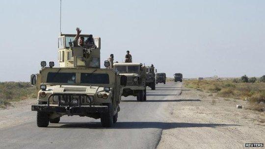 Quân đội Iraq bước vào giai đoạn tấn công IS. Ảnh: Reuters
