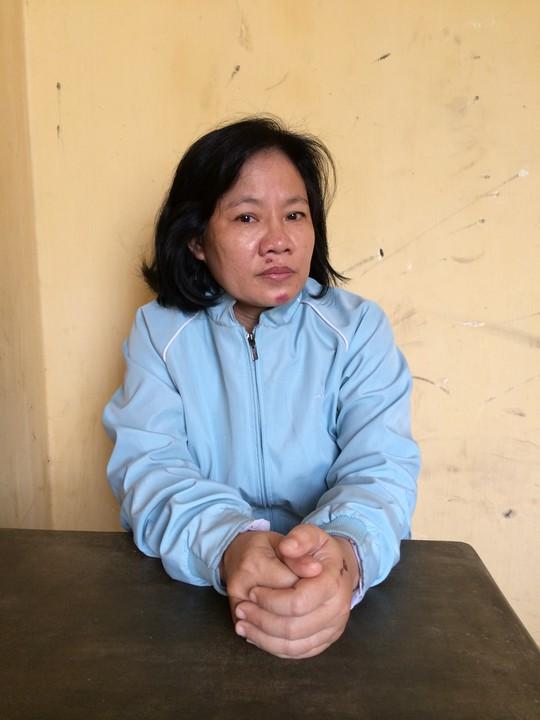 Nguyễn Thị Kim Phượng tại cơ quan công an