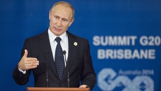 """Tổng thống Nga Vladimir Putin chỉ trích động thái """"sai lầm"""" của nhà lãnh đạo Ukraine tại Hội nghị G20. Ảnh: RIA Novosti"""