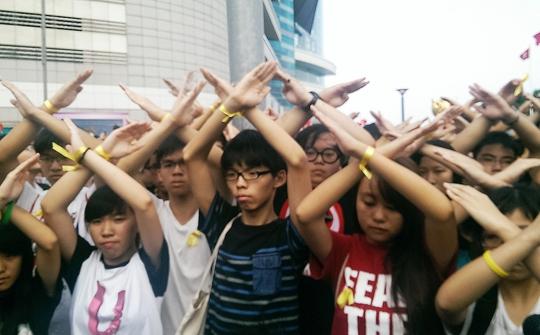 Sinh viên Hồng Kông tiếp tục biểu tình đòi bầu cử dân chủ. Ảnh: SCMP