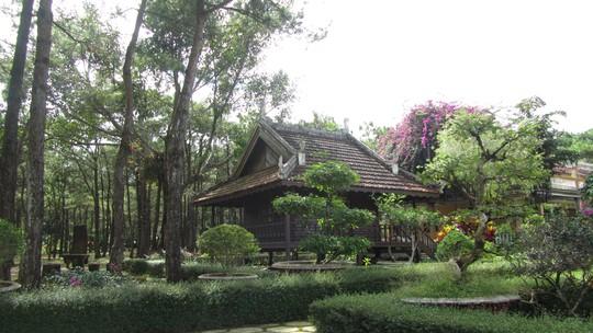 Khuôn viên chùa Bát Nhã tĩnh lặng, mát mẻ