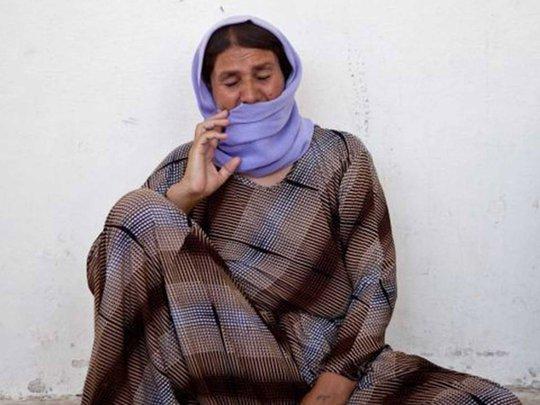 Bà Khalinda Sharaf Ajour, người Yazidi, có 2 con gái bị IS bắt cóc. Ảnh: Washington Post