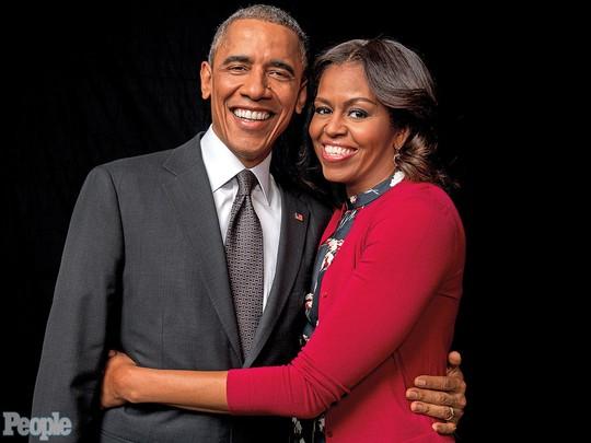 Vơ chồng ông Obama trong cuộc phỏng vấn với tạp chí People. Ảnh: People