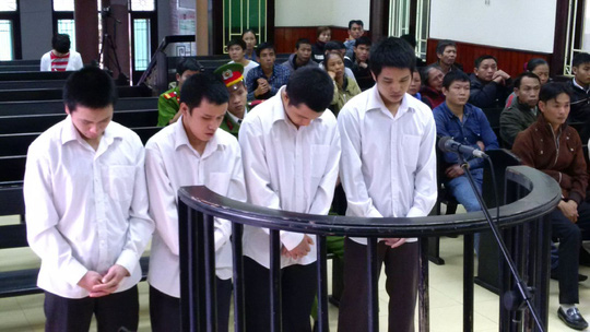 Hải cùng 3 đồng phạm tại phiên tòa