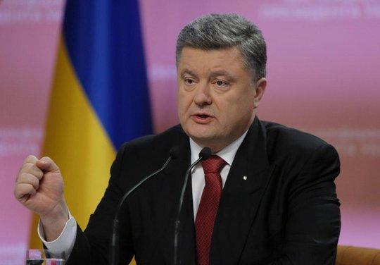 Tổng thống Ukraine Petro Poroshenko. Ảnh: AP
