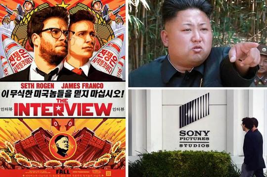 Bộ phim hài The Interview bị Triều Tiên phản ứng vì xuyên tạc lãnh đạo Kim Jong-un. Ảnh: Mirror
