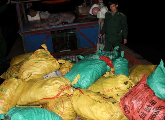 Số pháo lớn được lực lượng Biên phòng phát hiện bắt giữ