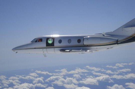 Một tháp pháo laser thử nghiệm gắn trên máy bay quân sự của Mỹ. Ảnh: Air Force Research Laboratory