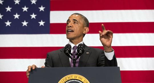 Mức tín nhiệm của người dân Mỹ dành cho Tổng thống Barack Obama đang trở nên thấp nhất những tuần vừa qua. Ảnh: AP
