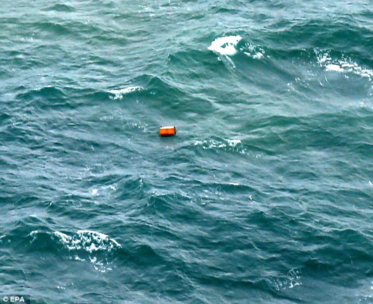 Reports from crews suggest as many as 10 items may have been located - including what might be a life raft, life jackets and long orange tubes.