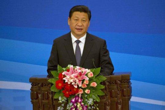 Chủ tịch Trung Quốc Tập Cận Bình phát biểu tại Đại lễ đường Nhân dân ở Bắc Kinh hôm 5-6-2014. Ảnh: Reuters