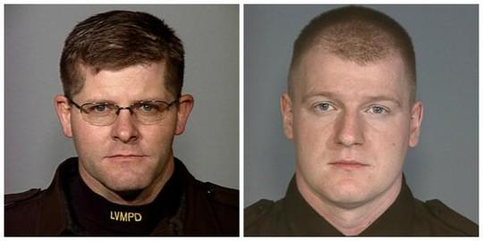 Hai viên cảnh sát thiệt mạng trong vụ xả súng hôm 8-6 ở Las Vegas. Ảnh: Twitter