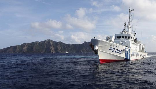 Tàu Nhật Bản tuần tra trong khu vực quần đảo Senkaku. Ảnh: Reuters