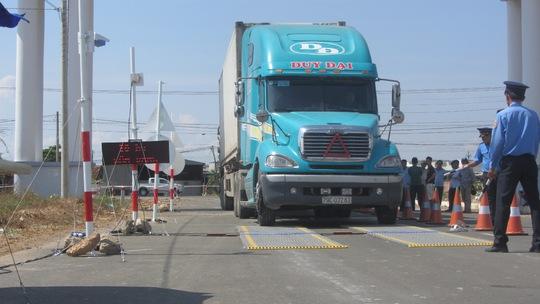 Kiểm tra tải trọng xe ở Bình Thuận