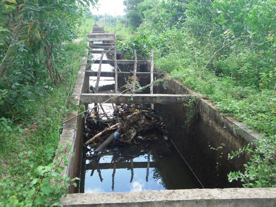 Công trình thủy lợi Rào Đá, nơi xảy ra vụ tai nạn