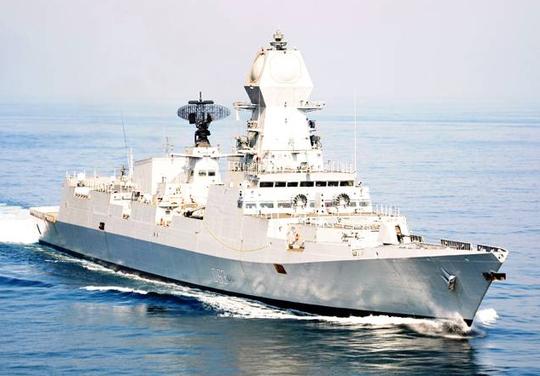 Khu trục hạm INS Kolkata. Ảnh: Times Of India
