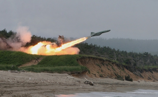 Tên lửa được phóng trong một cuộc thử nghiệm của Nga. Ảnh: Global Military Review