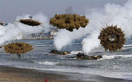 Trận động đất sáng 1-4 ngoài lãnh thổ Triều Tiên diễn ra một ngày sau khi hai nước liên Triều nã đạn pháo vào nhau. Ảnh: Reuters