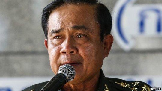 Tướng Prayuth giải tán Thượng viện Thái Lan. Ảnh: Reuters