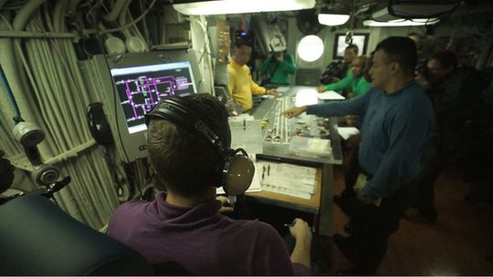 Control deck of USS George Washington