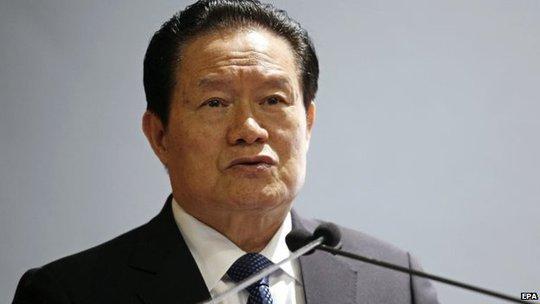 File photo: Zhou Yongkang, 1 November 2010