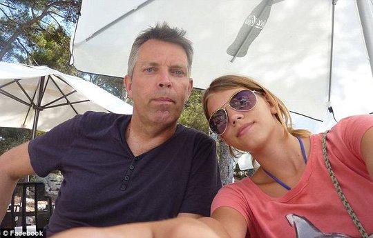 Ông Hans de Borst và cô con gái 17 tuổi Elsemiek de Borst. Ảnh: Facebook
