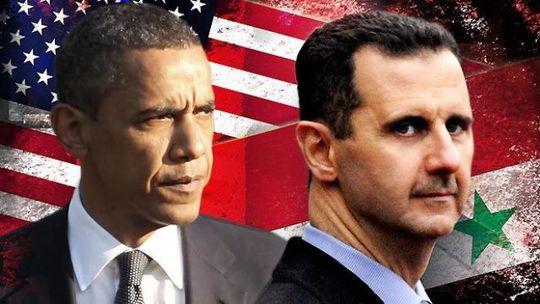 Tổng thống Mỹ Barack Obama (trái) không hoan nghênh hợp tác với Tổng thống Syria Bashar al-Assad trong cuộc chiến chống lại IS. Ảnh: Pat Dollard