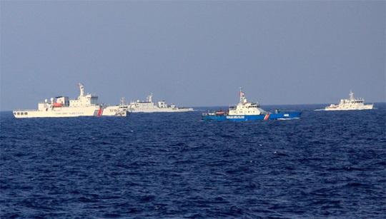 Tàu Cảnh sát biển Việt Nam luôn bị ít nhất 3 tàu Trung Quốc kèm chặt