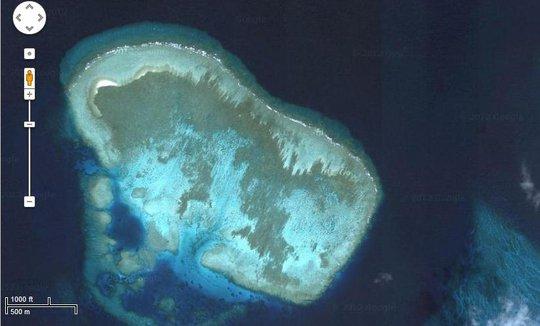 Bãi san hô Ken Nan thuộc cụm Sinh Tồn trên quần đảo Trường Sa. Ảnh: Internet