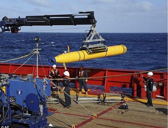 Tàu tự hành Bluefin-21 sẽ kết thúc nhiệm vụ tìm kiếm vào đầu tuần tới. Ảnh: AP