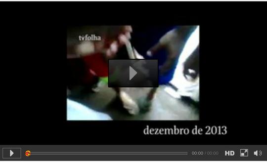 Đoạn video chặt đầu tù nhân bị phát tán lên mạng. Ảnh: TVFolha