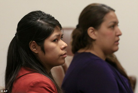 Suspects: From left, Vanesa Zavala and Candace Brito attend a preliminary hearing in the West Justice Center Tuesday to determine if they will go on trial for the murder of Kim Pham